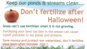 Don't Fertilize Your Lawn After Halloween!
